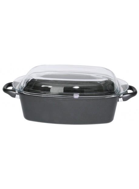 Cocotte pour rôti rectangulaire en fonte d'aluminium