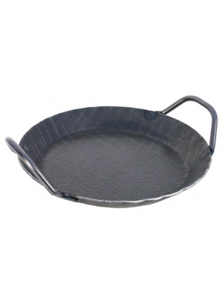 Poêle à frire avec poignées latérales en fer forgé à froid
