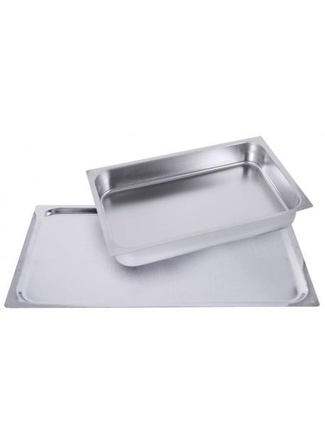 Plaque de cuisson en acier inoxydable - GN 2/1