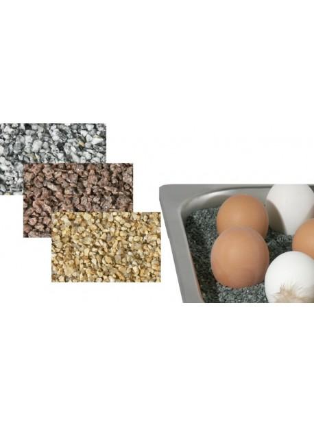 Gravillons en granit pour maintien de la chaleur dans Chauffe-plat