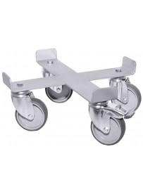 Support à 4 roues pour récipient inox universel 20 à 150 L