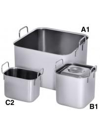 Conteneurs pour bain-marie de différentes tailles