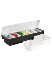Boîte à épices 6 emplacements en polypropylène