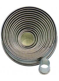 Set d'emporte-pièces droits de forme ronde en fer blanc