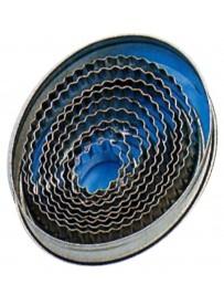 Set d'emporte-pièces ondulés de forme ovale en fer blanc