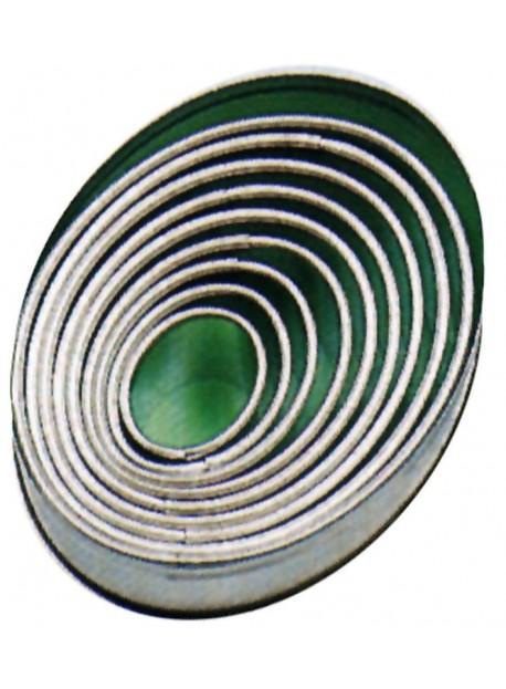 Set d'emporte-pièces droits de forme ovale en fer blanc