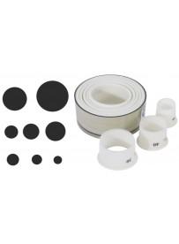 Set d'emporte-pièces droits de forme ronde en Exoglass®