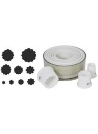 Set d'emporte-pièces ondulés de forme ronde en Exoglass®