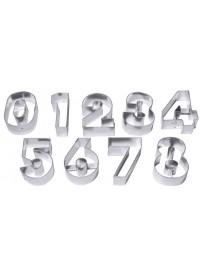 """Set de grands emporte-pièces """"chiffres"""" en fer blanc"""