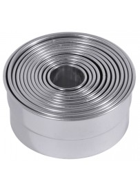 Set d'emporte-pièces droits de forme ronde en acier inoxydable