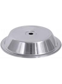 Couvre-plat rond en acier inoxydable 18/10 effet miroir poli