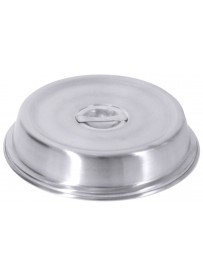 Couvre-plat rond en acier inoxydable satin poli 18/10