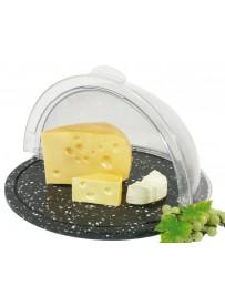 Plateau et cloche cylindrique à fromages