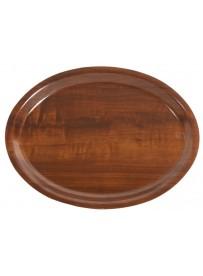 Plateau de service ovale en bois