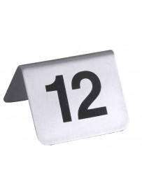 Set de 12 numéros de table imprimés