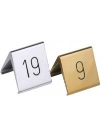 Numéros de table à l'unité