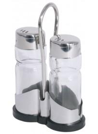 Ménagère sel et poivre base plastique