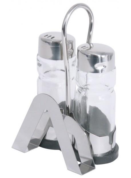 Ménagère 3 pièces en verre et acier inoxydable 18/0