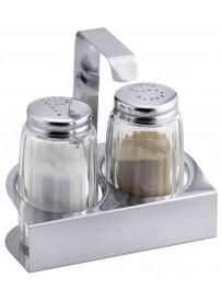Ménagère sel & poivre en inox 18/0