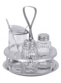 Ménagère 3 pièces avec pots en verre