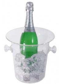 Seau à champagne en polycarbonate transparent