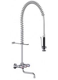 Unité de pré-rinçage murale robinet avec intégré