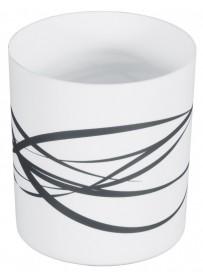 Poubelle de table en polypropylène blanc avec imprimé