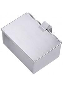 Cendrier en inox 18/0 avec couvercle et poignée