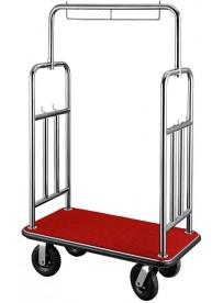Chariot à bagages avec porte-cintre
