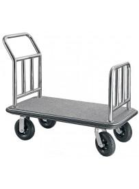 Chariot à bagages en acier inoxydable
