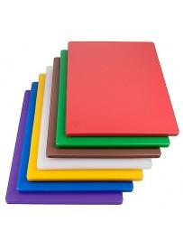 Planche à découper colorée