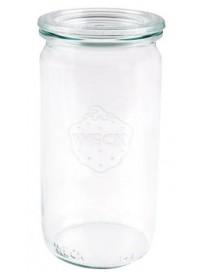 Jarre cylindrique en verre «Weck»