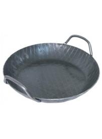 Poêle à frire en fer forgé à chaud