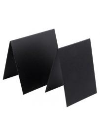 Étiquette de table noire